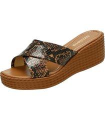 sandalias para mujer marca azaleia azaleia - marrón
