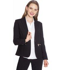 blazer manga larga liso negro lorenzo di pontti