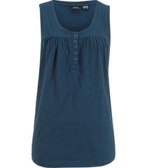 top in cotone con bottoncini (blu) - bpc bonprix collection