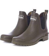 barbour wilton wellington low-top boots / barbour wilton wellington low-top boots, olive, 5