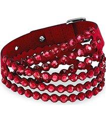 power swarovski crystal & glass crystal wrap bracelet