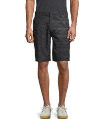 hurley men's hybrid space-dye shorts - black - size 28