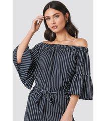 rut&circle fatima stripe blouse - blue