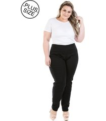 23df83afe calça plus size - confidencial extra jeans legging com zíper lateral