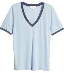women's treasure & bond ringer v-neck t-shirt
