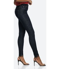 high waist hannah skinny jeans - mörkblå