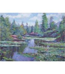 """david lloyd glover spring watergarden canvas art - 15"""" x 20"""""""