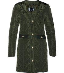 giacca trapuntata lunga (verde) - bpc selection