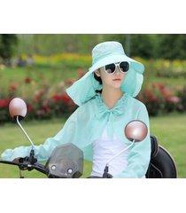 verano señoras protección uv sol sombrero verde