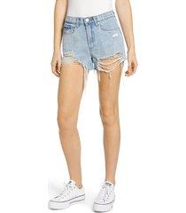 women's blanknyc the barrow ripped denim shorts