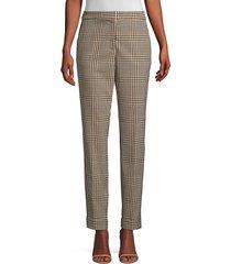 lafayette 148 new york women's clinton plaid pants - melba multi - size 8