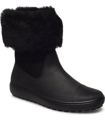 soft 7 tred w shoes boots ankle boots ankle boots flat heel svart ecco