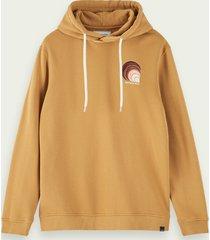 scotch & soda 100% katoenen hoodie met geborduurd merkteken