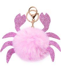 portachiavi per accessori in pelliccia sintetica per donna borsa