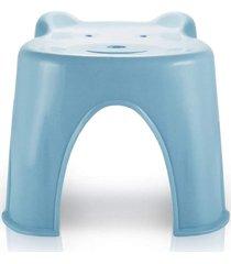banquinho plástico infantil jacki design suporta até 45 kg azul - kanui