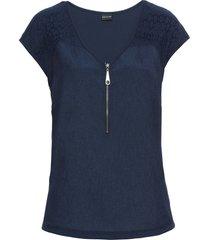 maglietta con pizzo (blu) - bodyflirt