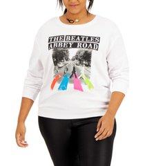love tribe trendy plus size the beatles-graphic sweatshirt
