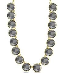kensie charcoal circle stone necklace
