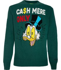 mc2 saint barth man green sweater cash mere only print - special edition disney©