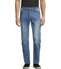 skinny-fit side-striped jeans