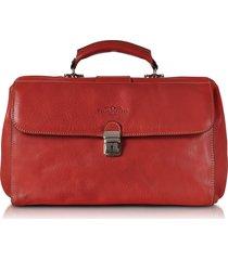 robe di firenze designer travel bags, red medium genuine italian leather doctor bag