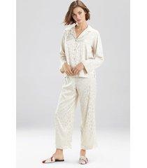 natori decadence pajamas, women's, beige, size s natori