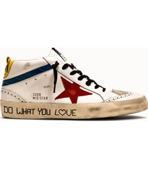golden goose deluxe brand sneakers mid star colore bianco blu