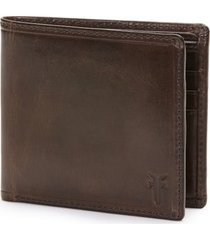 frye 'logan' leather billfold wallet in dark brown at nordstrom