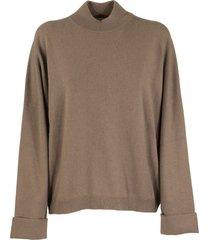 brunello cucinelli high neck sweater cashmere mock neck sweater with monili