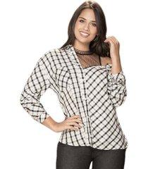blusa ariadna blanco-negr  para mujer croydon