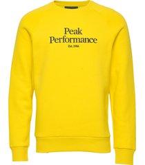 m original crew sweat-shirt tröja gul peak performance