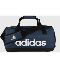 maletín azul-negro-blanco adidas performance essentials logo 25l