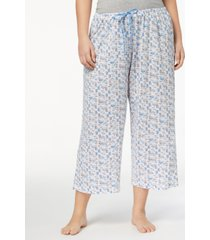 hue plus size icy margarita knit capri pajama pants