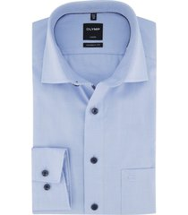 lichtblauw geruit overhemd olymp luxor modern fit