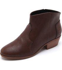 bota texana marrón moleca