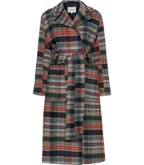 nuotio coat wollen jas lange jas multi/patroon marimekko