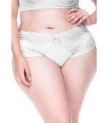 calcinha sempre sensual lingerie retrô branco - kanui