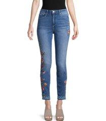 driftwood women's jackie high-rise skinny jeans - medium wash - size 24 (0)