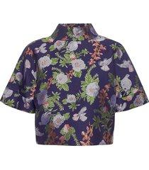 ruska shirt blouses short-sleeved blauw hálo