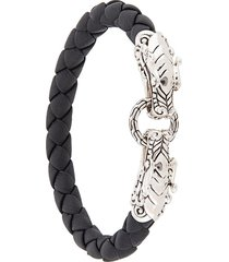 john hardy legends naga double dragon head bracelet - black