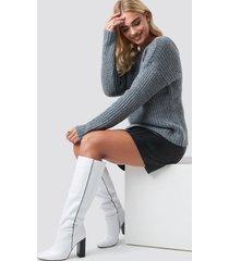 mango paula boots - white
