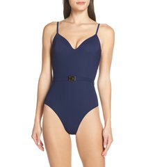 women's tory burch belted one-piece swimsuit