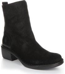 women's fly london moba block heel bootie, size 5us - black