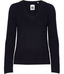 pullover long sleeve stickad tröja blå marc o'polo