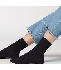 calzedonia wool and cotton short socks woman blue size tu