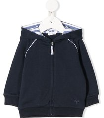 il gufo relaxed logo hoodie - blue