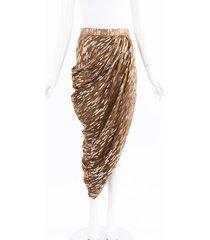 maticevski impulse gold silver draped skirt silver/gold/geometric sz: s