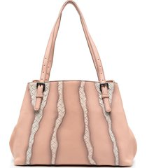 bottega veneta panelled shoulder bag - pink