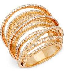 multi-loop simulated diamond ring