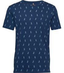 t-shirt t-shirts short-sleeved blå marc o'polo